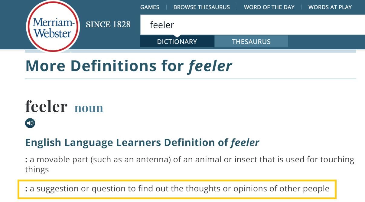 feeler questions