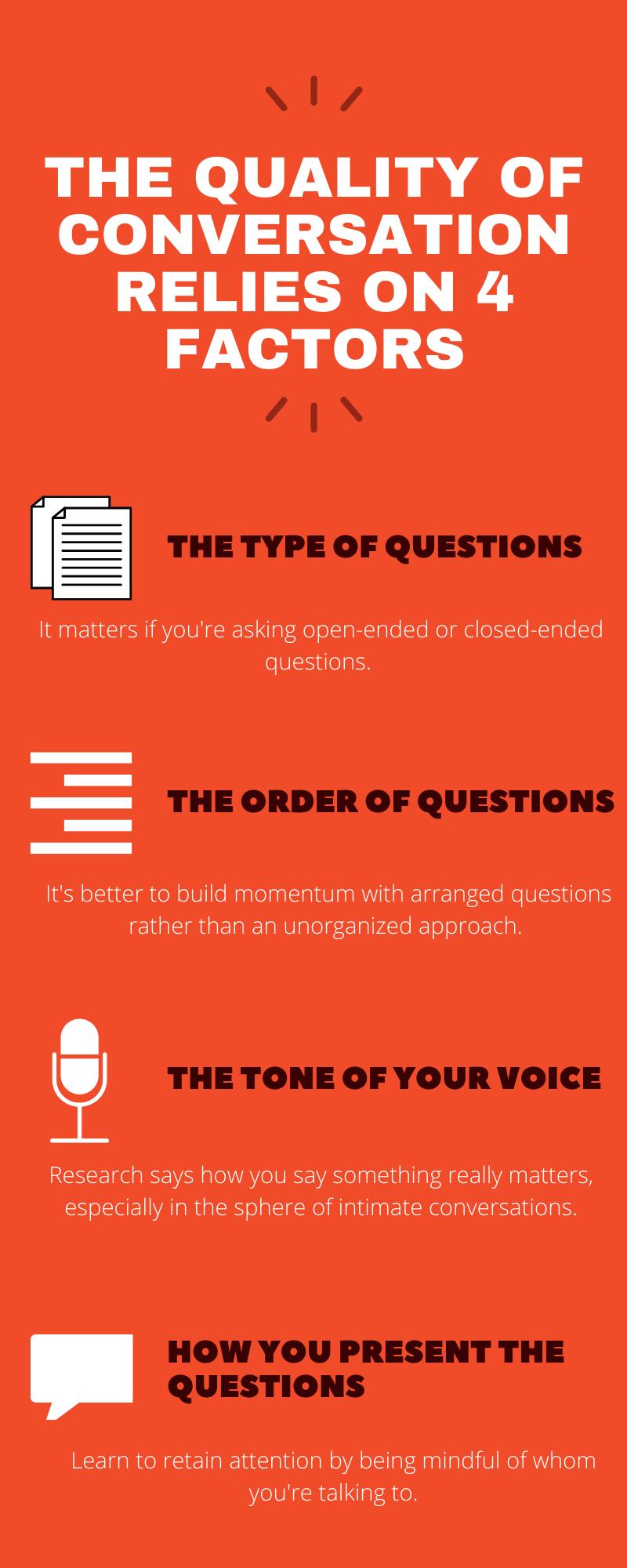 4 factors for good conversation