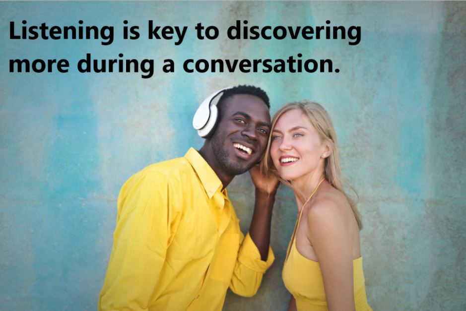 listening more during conversation