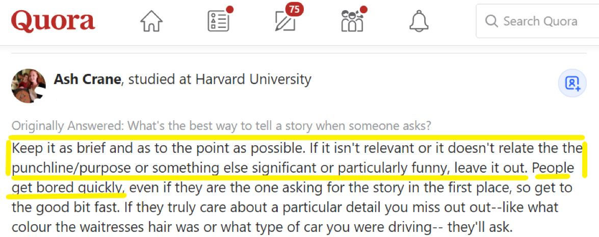 start conversation with a story